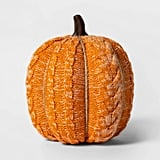 Knit Orange Pumpkin Halloween Decoration