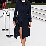 Alexa Chung crafted a smart style, complete with a pair of loafers and a sweet Peter Pan collar, for the Burberry show this week in London.
