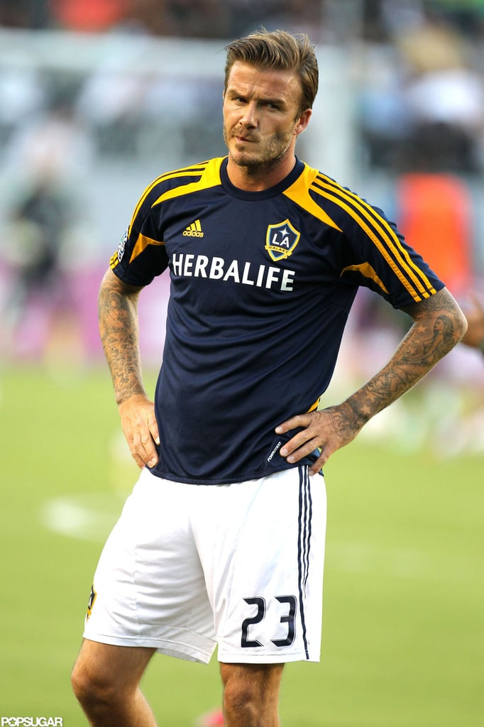 David Beckham played soccer for the LA Galaxy in LA ...