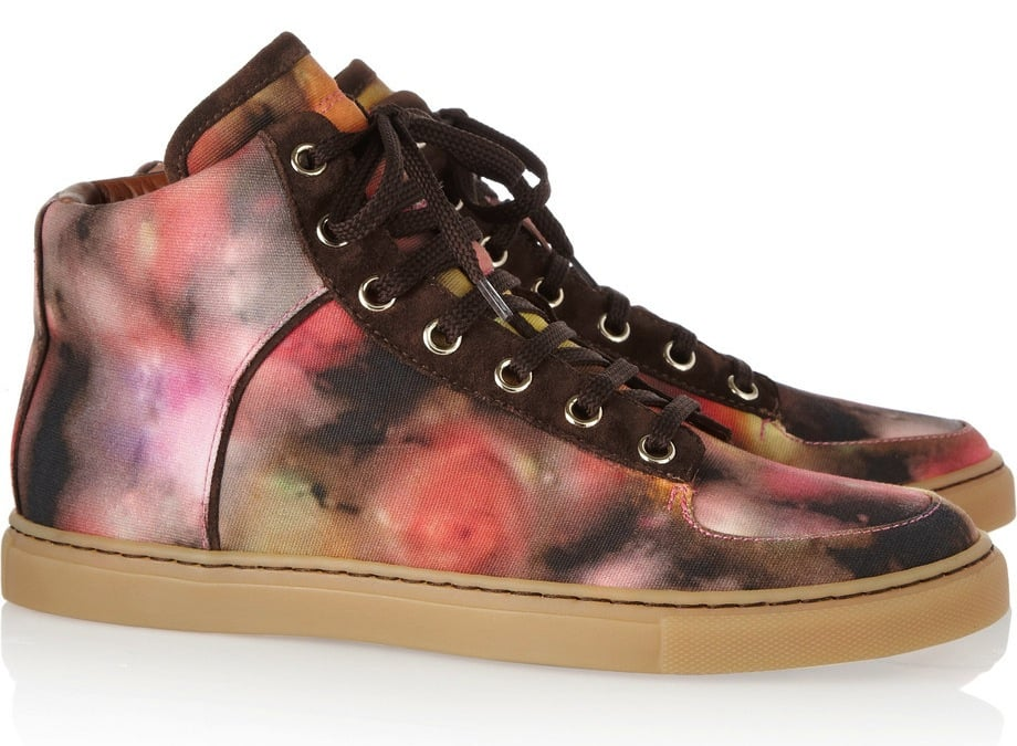 Mulberry debuts its first foray into sneakers, and to start, the brand has designed a blurred-out floral print we have to have. Mulberry Blurry Bloom Canvas High-Top Sneakers ($380)