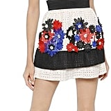Ungaro Flower Appliqués Embroidered Lace Dress
