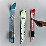 Wall-Mounted Recycled Ski Bottle Opener