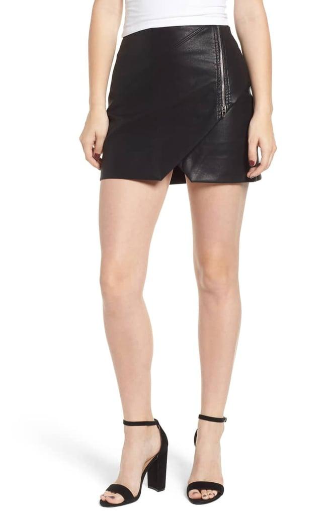 BLANKNYC Faux Leather Zip Miniskirt