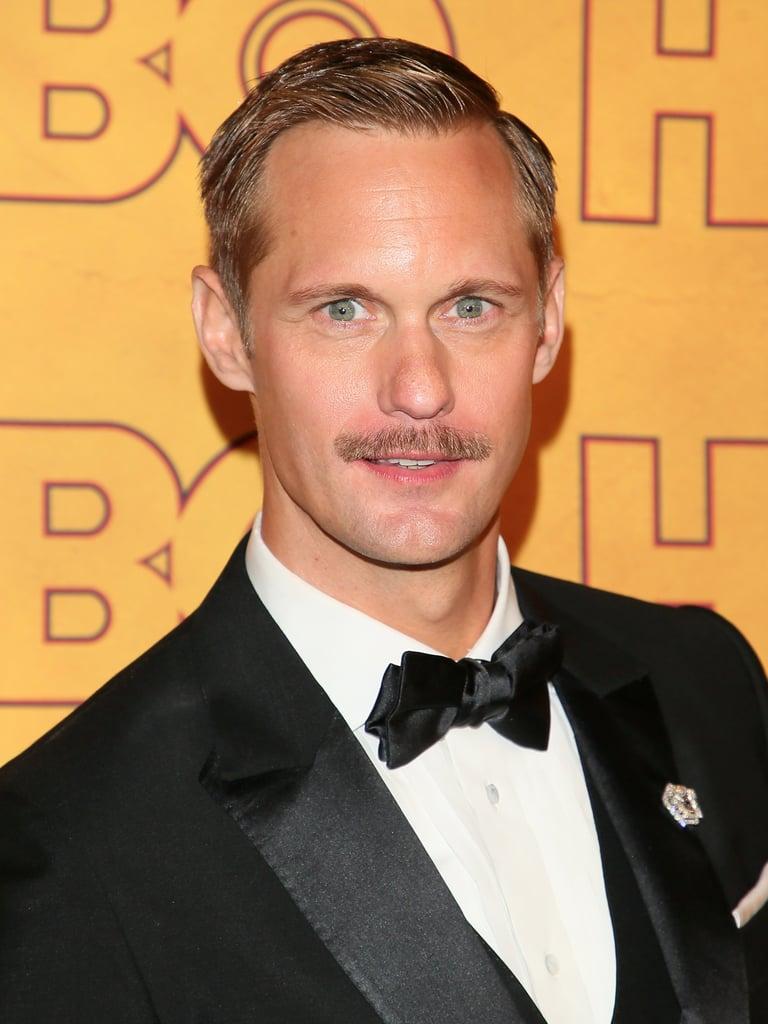 Alexander Skarsgard's Moustache at the 2017 Emmy Awards