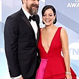 David Harbour and Lily Allen at the 2020 SAG Awards