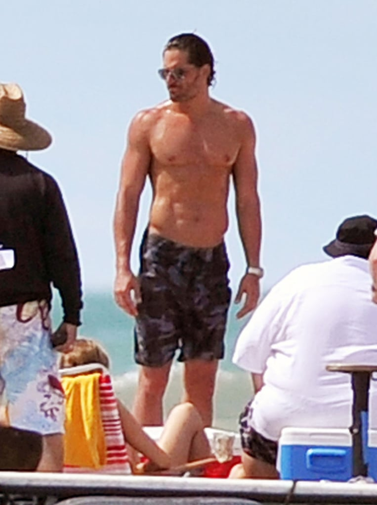 """A shirtless Joe Manganiello traded the dark and swampy set of True Blood for the beachy Tampa, FL production site of Magic Mike yesterday. The hot showing came the same day his costars Channing Tatum, Matt Bomer, and Matthew McConaughey flaunted their six-packs filming the male-stripper tale. The toned cast has disrobed all over the country, including LA and Miami as well. Joe Manganiello is single since his sudden split from fiancée Audra Marie last month, but the breakup didn't slow down his work schedule. In addition to Magic Mike, Joe's also been cast in What to Expect When You're Expecting and shares the small screen with Matt Bomer on an episode of White Collar. Joe wrapped Magic Mike last night, and tweeted that """"minds will be blown"""" by his small, but important, part."""