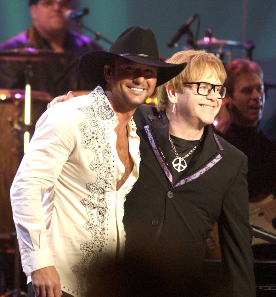 Elton John and Tim McGraw performed at the 2003 show.