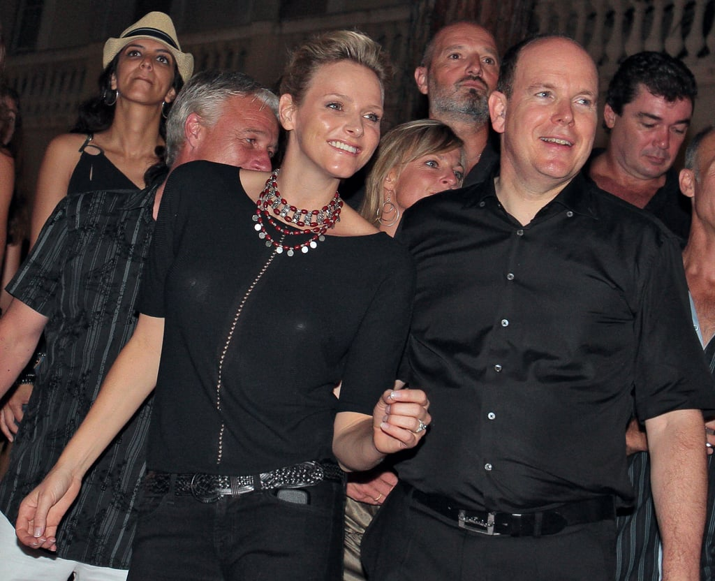 Prince Albert of Monaco and his then-fiancée, Charlene Wittstock, attended the concerts of Iggy and the Stooges and ZZ Top in July 2010. Source: Getty / Stephanie Danna/AFP