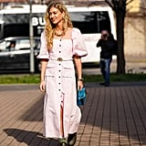 Pink Button-Down Dress Trend