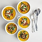 Spiced Carrot Soup With Chickpeas and Tahini
