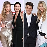 Gigi, Bella, and Anwar Hadid