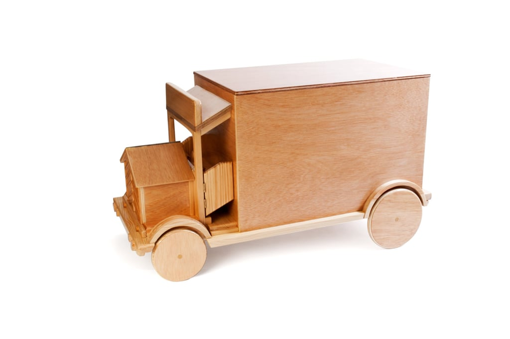 Barcelona Is Wood Toy Truck Trunk