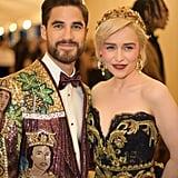 Pictured: Darren Criss and Emilia Clarke
