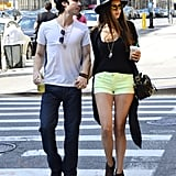 Ian Somerhalder and Nina Dobrev hit the streets in NYC.