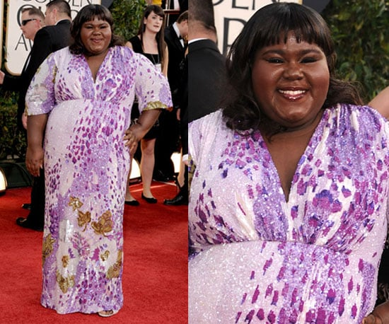 Gabourey Sidibe at 2011 Golden Globe Awards