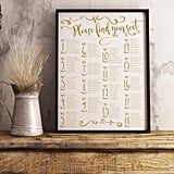 Elegant Wedding Seating Chart Sign
