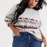 Native Youth Plus Jumper in Fairisle Knit