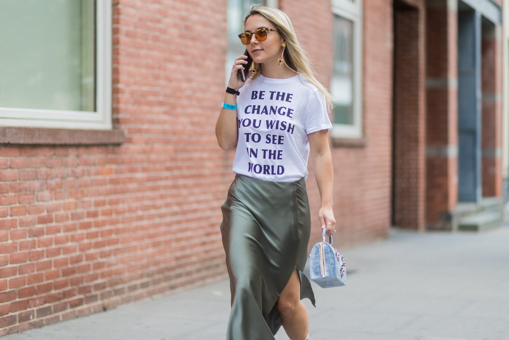 36a0f84bfd6 Rock a Statement Tee With a Skirt