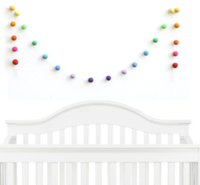 Rainbow Nursery Ball Garland