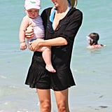 Eli Manning Shirtless Pictures With Baby and Wife in Miami
