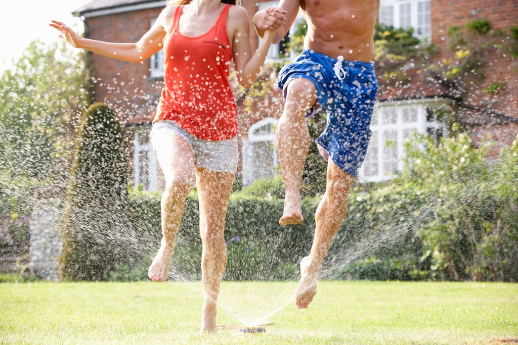 Running Through a Cold Sprinkler