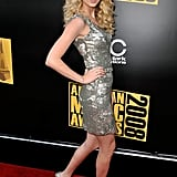 2008: Taylor Stunned in a Silver Dress