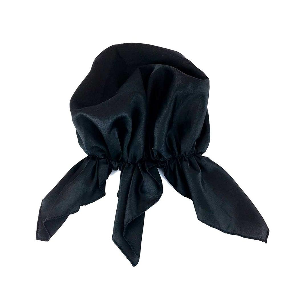 KitschPRO Black Satin Head Scarf