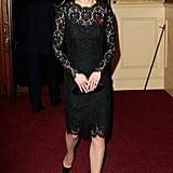 Kate wearing Dolce & Gabbana in November 2015.