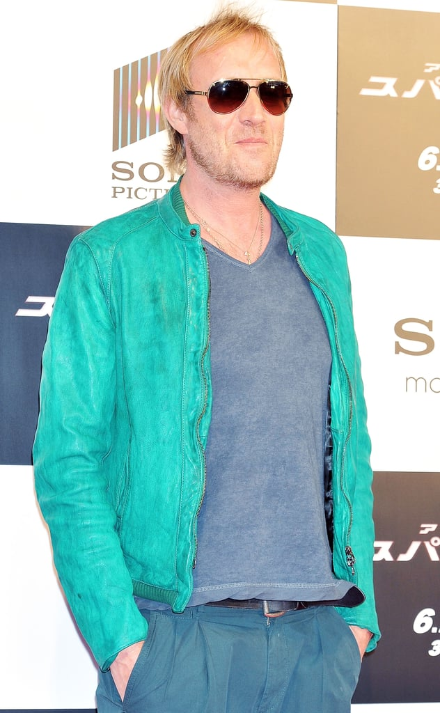 Rhys Ifans wore a bright green jacket on the red carpet for The Amazing Spider-Man premiere in Japan.