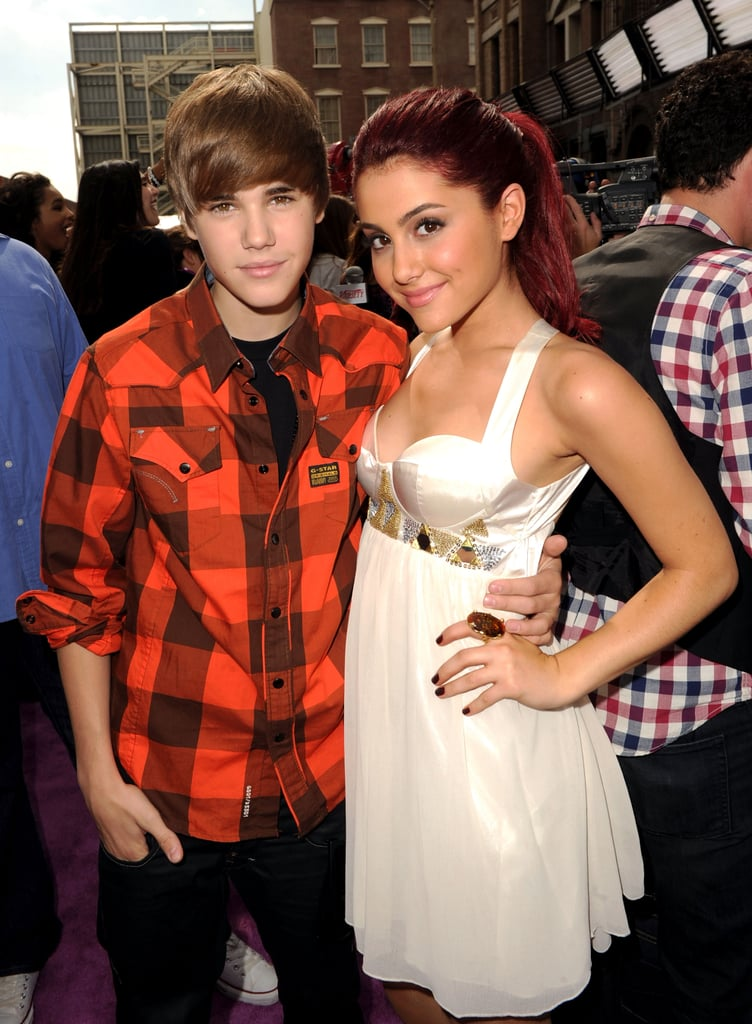 Justin Bieber and Ariana Grande at Variety's Power of Youth Event in 2010