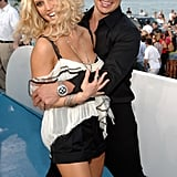 The duo goofed off on the blue carpet at the MTV Video Music Awards in August 2005.