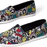 Toms Multi Marvel Comic Pop Printed Men's Canvas Shoes