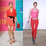 For Spring 2011, DKNY mixed coral ruffles with tomato red, while Costume National showcased a more high-contrast version of the trend.