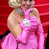Katie Couric got all dolled up as the Gentlemen Prefer Blondes Marilyn in 2005.