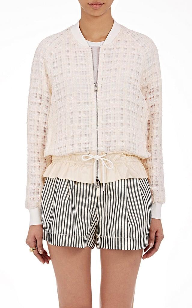 3.1 Phillip Lim Women's Gauzy Tweed Bomber Jacket-White ($795)