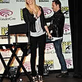 Charlize Theron and Michael Fassbender promoting Prometheus at WonderCon.