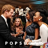 Prince Harry chatted with guests at the Sentebale Gala in South Africa.