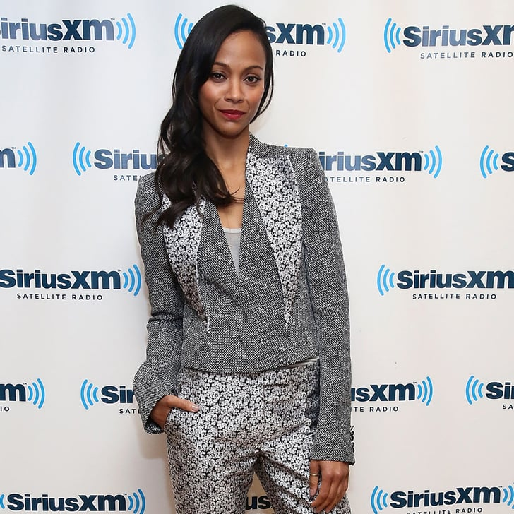 Zoe Saldana Embraces Print For the Latest Stop on Star Trek's Promo-Tour