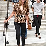 Nina Garcia leaves Victoria Beckham.