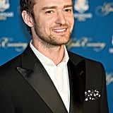 Justin Timberlake rocked a polka-dot pocket square.