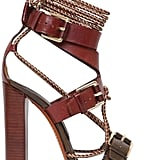 Etro Rope & Leather Bi Color Sandals