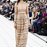 Which Perfectly Echoed Burberry's Women's Collection For Spring/Summer 2016