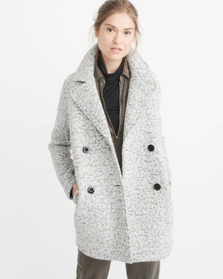 Abercrombie & Fitch Nubby Wool-Blend Peacoat | Best Cheap Peacoats ...
