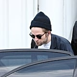 Robert Pattinson ducked into a car in Sydney.