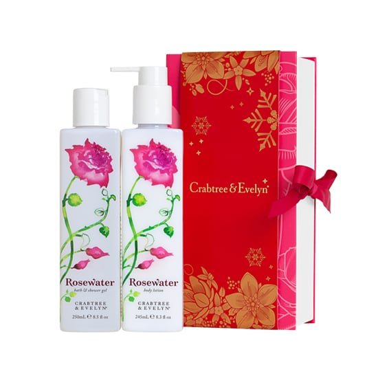 Roses are having a revival this year. Send along Crabtree & Evelyn's Rosewater Perfect Pair ($40) for your boss or co-worker; this duet of shower gel and body lotion is so much better than a dozen roses.