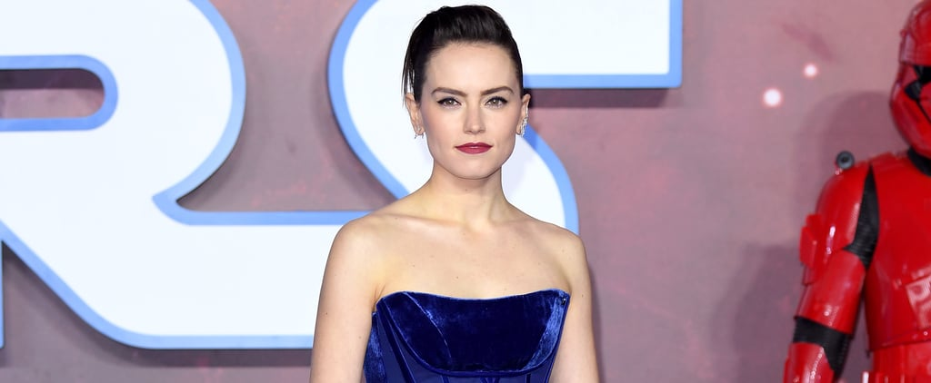 Daisy Ridley's Blue Vivienne Westwood Couture Gown