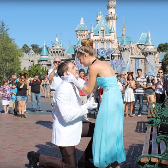 Disneyland Proposal With Glass Slipper