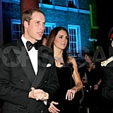 Prince William and Kate Middleton were both in black at the Sun Military Awards.