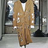 A Crystal-Adorned Cutout Coat on the Area Fall 2020 Runway at New York Fashion Week