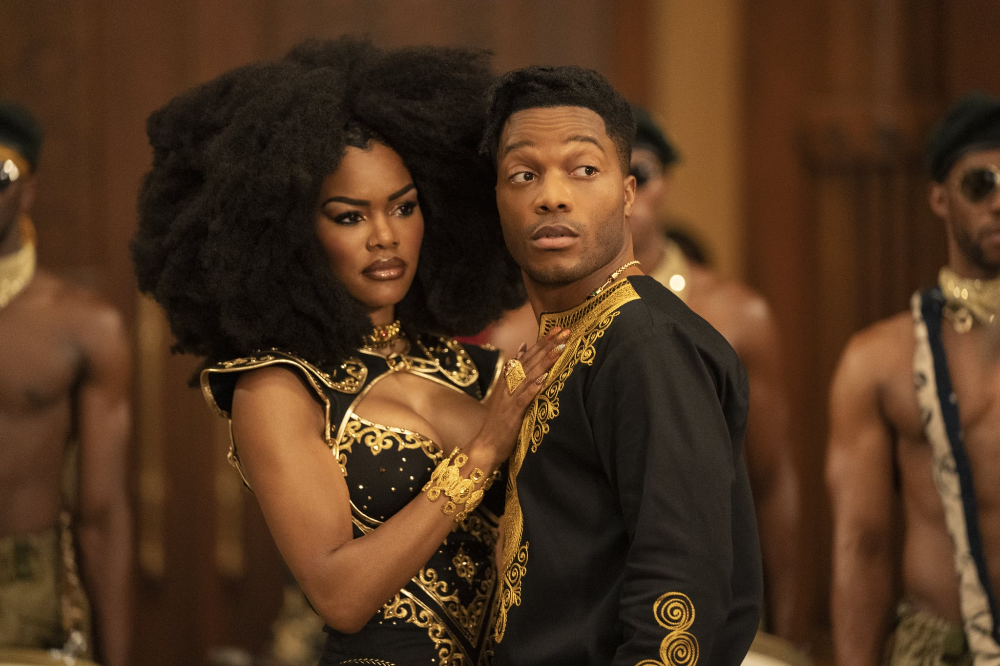Teyana Taylor and Jermaine Fowler star in COMING 2 AMERICA Photo: Quantrell D. Colbert 2020 Paramount Pictures